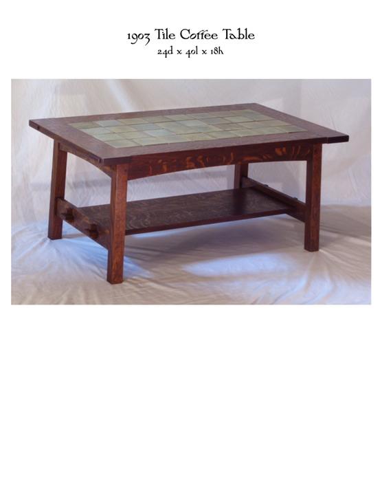 1903 Tile Coffee Table MIKE DEVLIN FURNITURE DESIGN