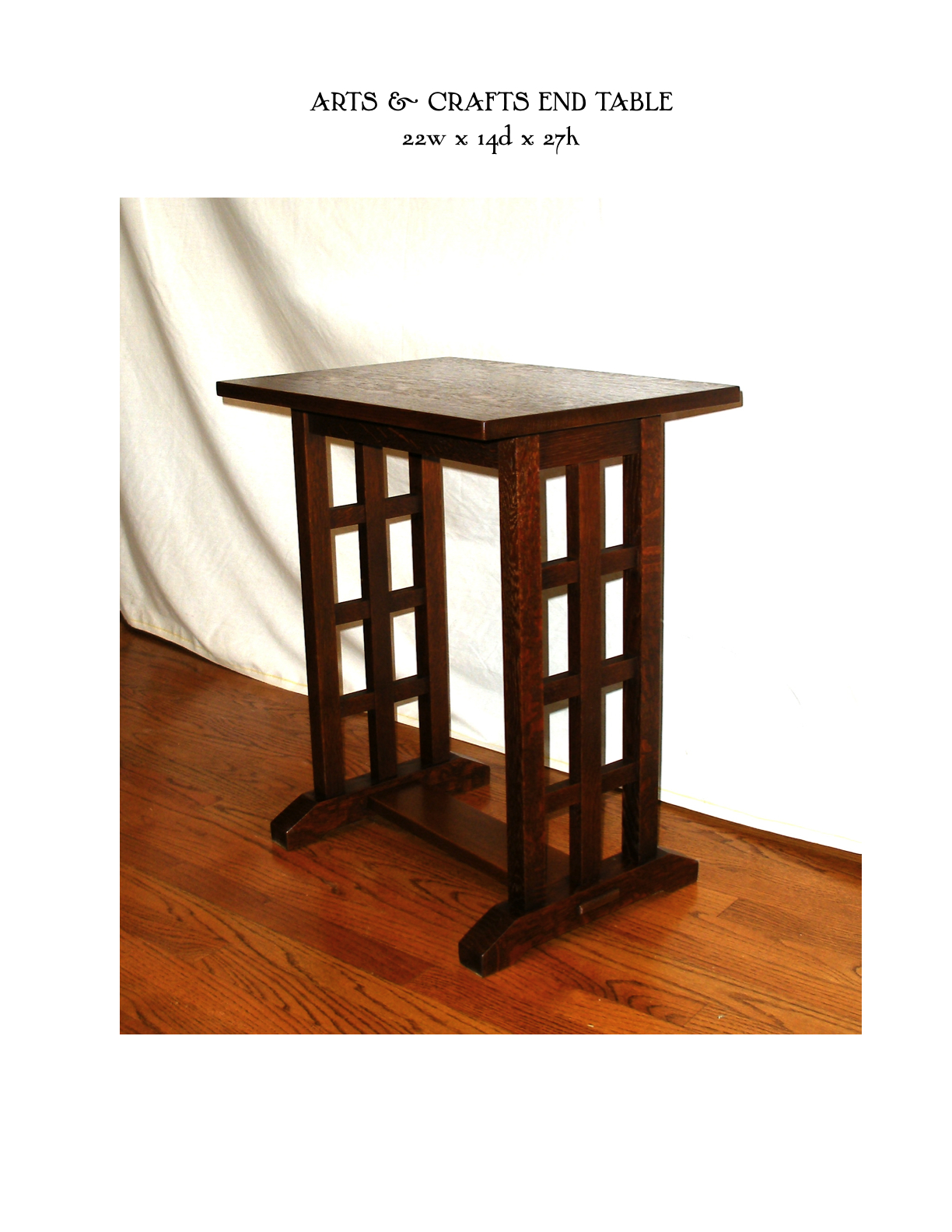 ARTS AND CRAFTS END TABLE | MIKE DEVLIN FURNITURE DESIGN