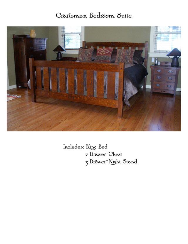 craftsman bedroom suite mike devlin furniture design