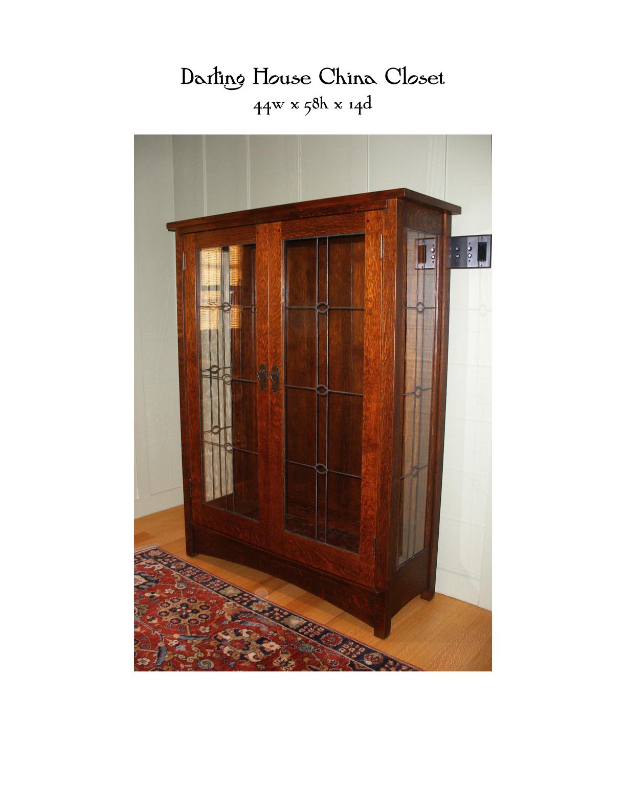 Darling House China Closet Mike Devlin Furniture Design