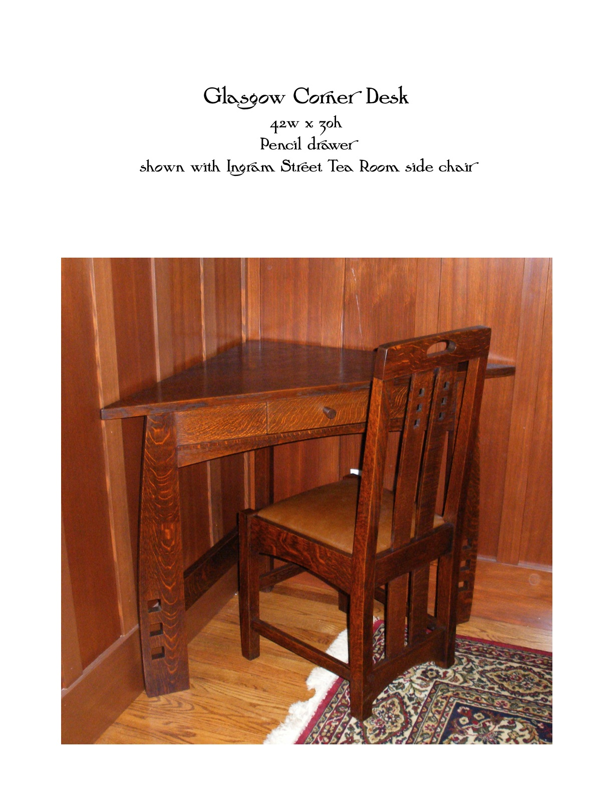Glasgow Corner Desk Mike Devlin Furniture Design