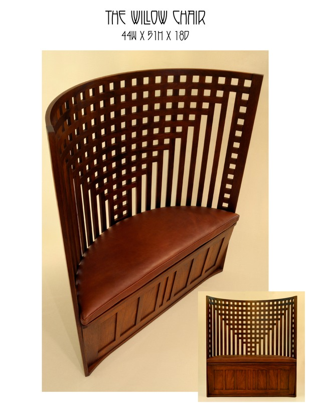 the willow chair mike devlin furniture design. Black Bedroom Furniture Sets. Home Design Ideas