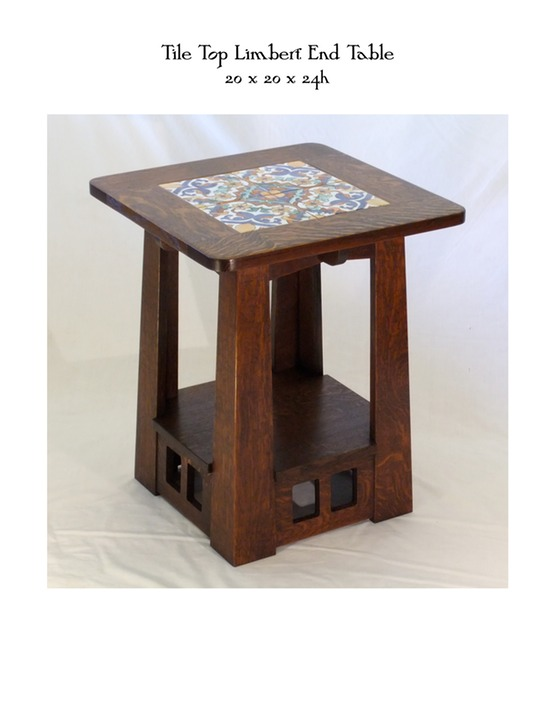 Tile Top Limbert End Table